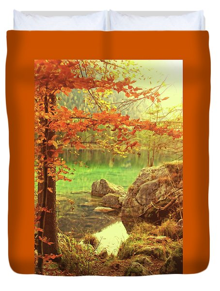 Fire And Water Duvet Cover by AugenWerk Susann Serfezi