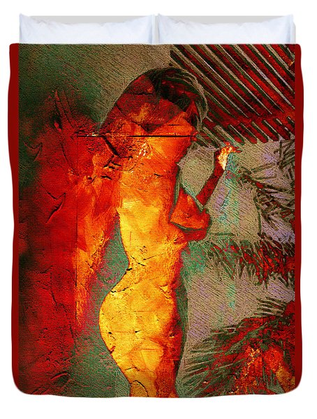 Fire Angel Duvet Cover by Andrea Barbieri