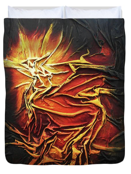 Fire Duvet Cover by Angela Stout