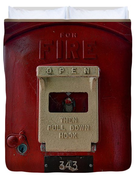 Fire Box 342 Duvet Cover
