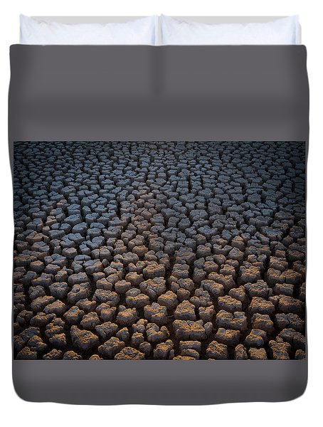 Fire Cracks Duvet Cover