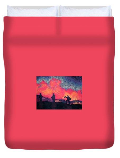Fire Crew Duvet Cover