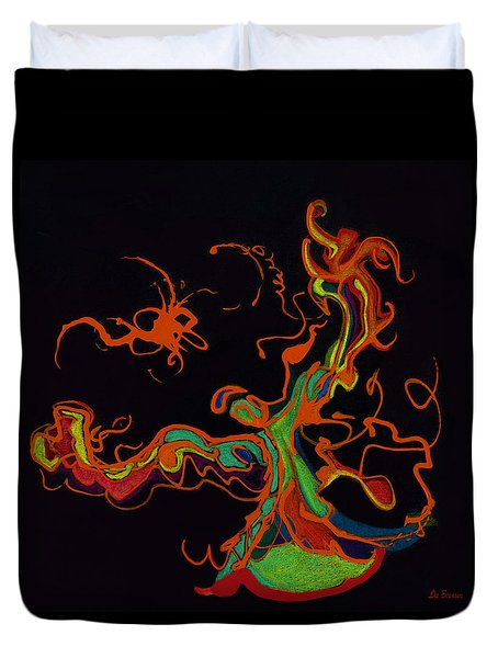 Fire Dancer Duvet Cover