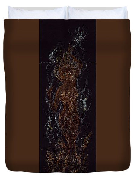 Fire Duvet Cover by Dawn Fairies