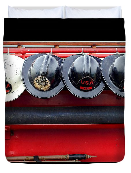Fire Department Of The Usa Duvet Cover