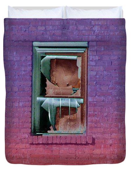Fire Escape Window 2 Duvet Cover by Tim Allen