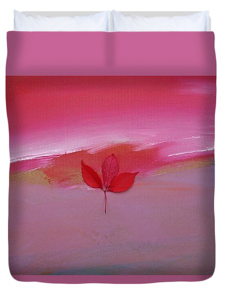 Duvet Cover featuring the painting Fire Fall by Charles Stuart