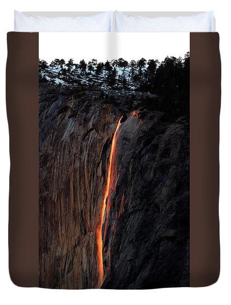 Fire Falls - 2016 Duvet Cover