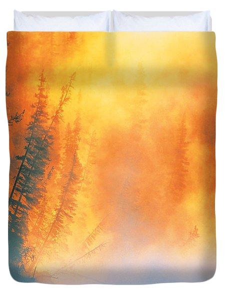 Fire Fly Fishing Duvet Cover by Darwin Wiggett
