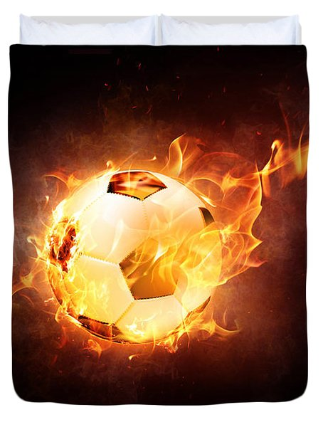 Fire Football Duvet Cover
