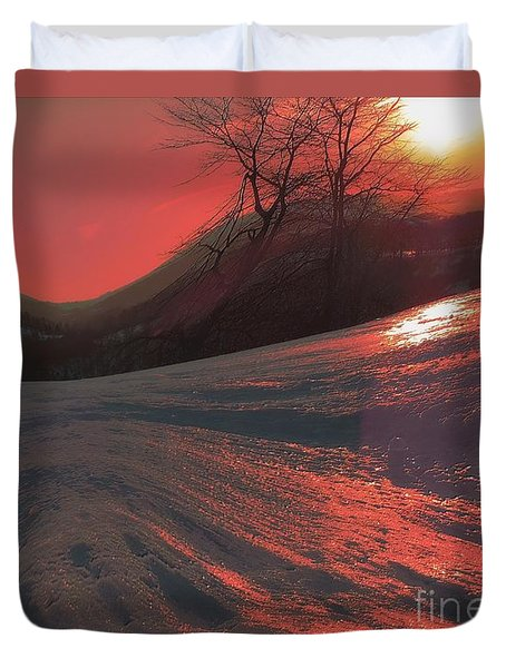 Fire Frost Duvet Cover