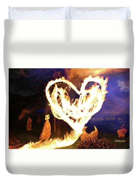 Fire Heart Duvet Cover