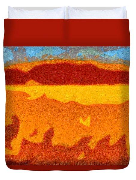 Fire Hill Duvet Cover