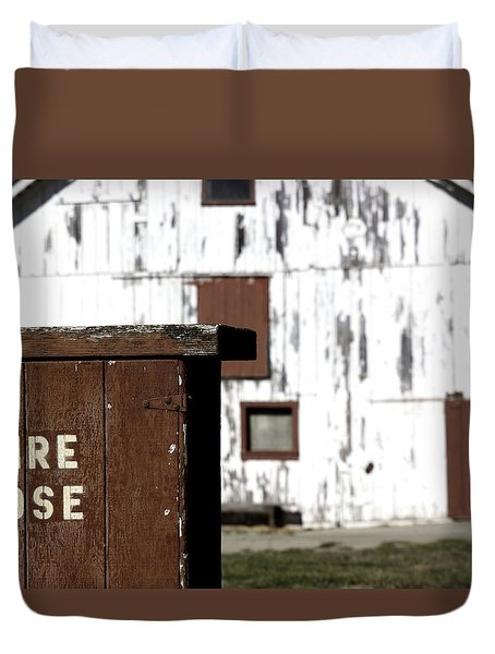 Duvet Cover featuring the photograph Fire Hose by Lora Lee Chapman