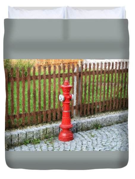 Fire Hydrant Duvet Cover