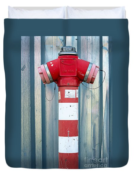 Fire Hydrant Steel Wall Duvet Cover