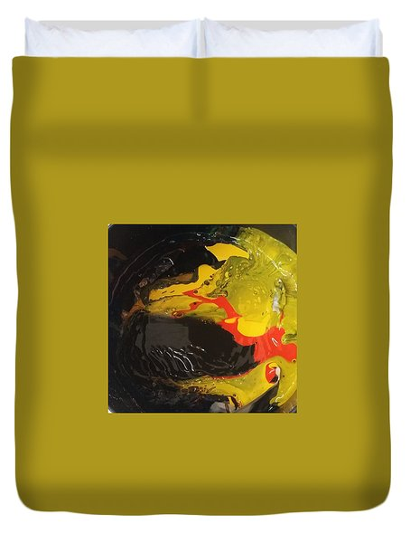 Fire In Soot Duvet Cover