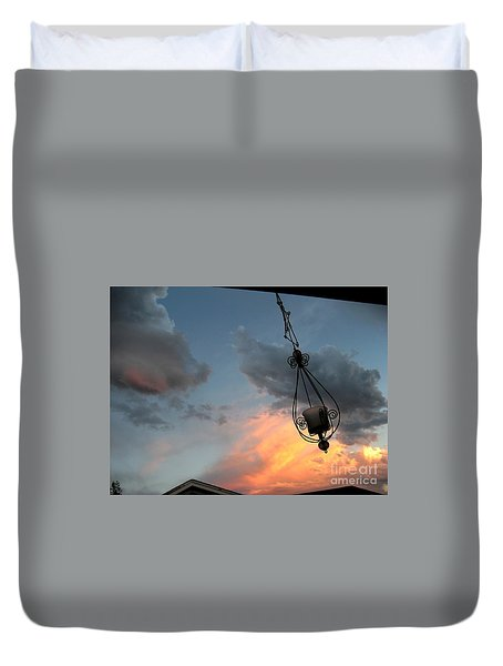 Fire In The Clouds Duvet Cover