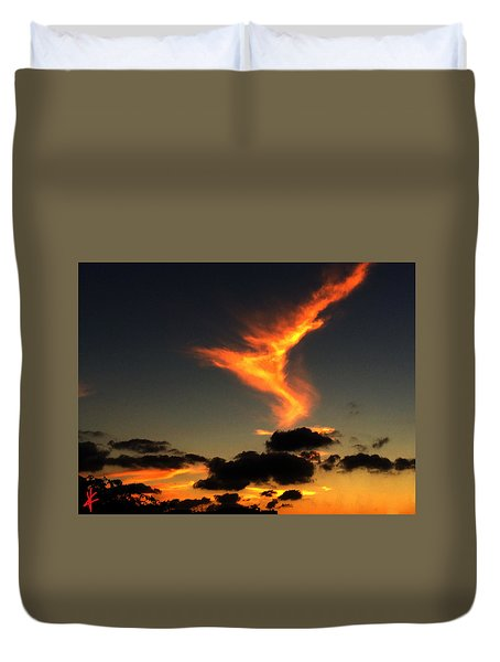 Early Evening Over Paros Island Duvet Cover