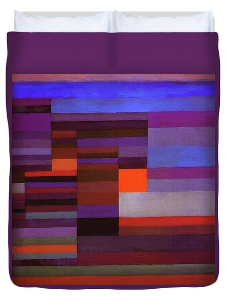 Fire In The Evening Duvet Cover by Paul Klee