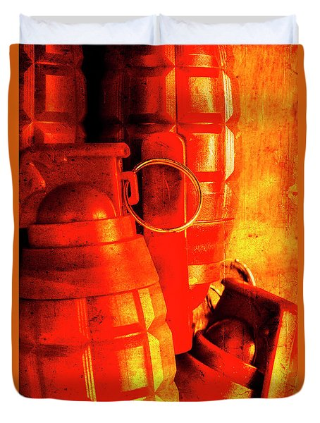 Fire In The Hole Duvet Cover