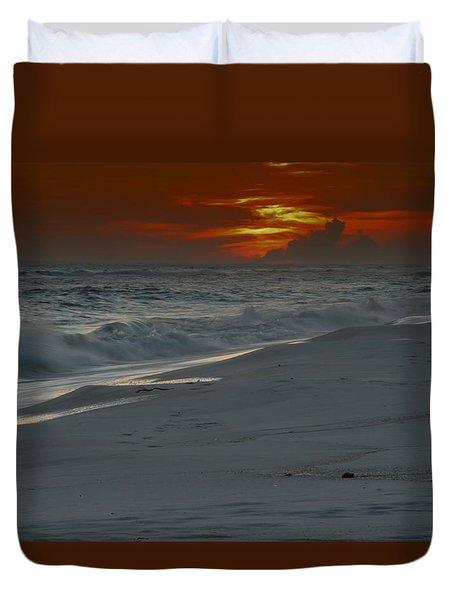 Fire In The Horizon Duvet Cover