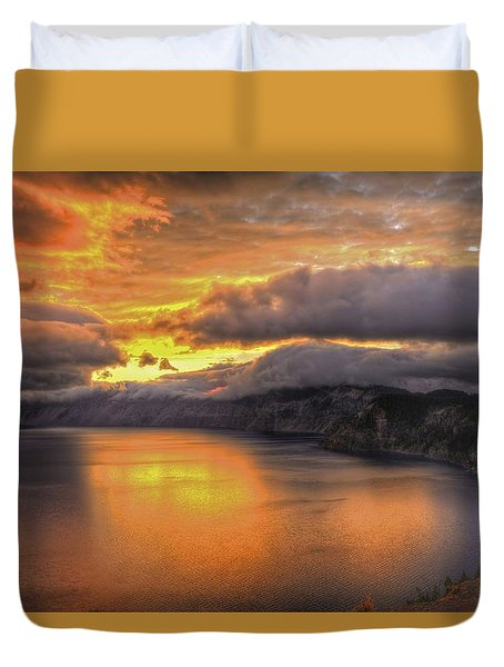 Fire In The Lake #1 Duvet Cover
