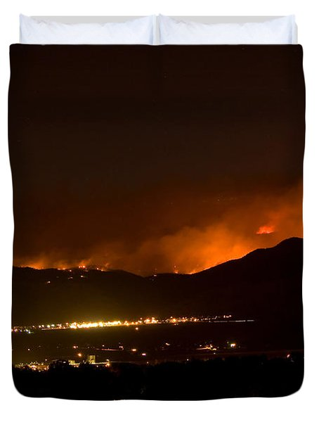 Fire In The Mountains No Lightning In The Air  Duvet Cover by James BO  Insogna