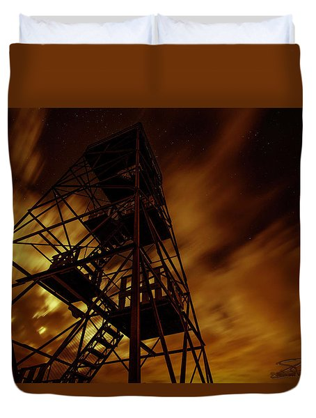 Fire In The Night Duvet Cover