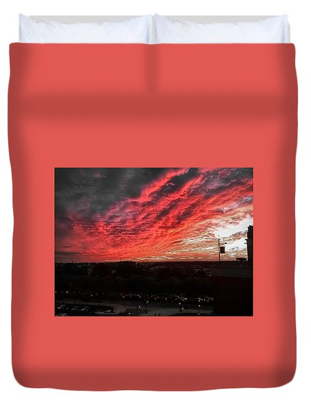 Fire In The Sky Duvet Cover