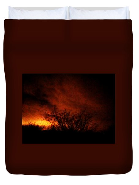 Fire In The Sky Duvet Cover by Nature Macabre Photography