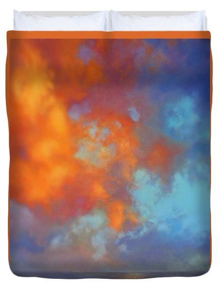 Fire In The Sky Duvet Cover by Vivien Rhyan