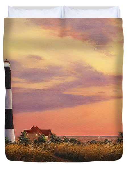 Fire Island Lighthouse Duvet Cover