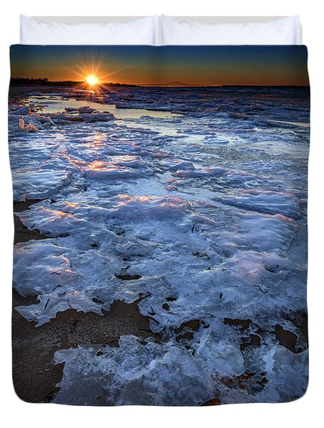 Fire Island Winter Duvet Cover by Rick Berk