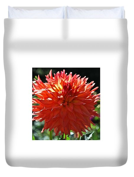 Fire It Up Dahlia  Duvet Cover