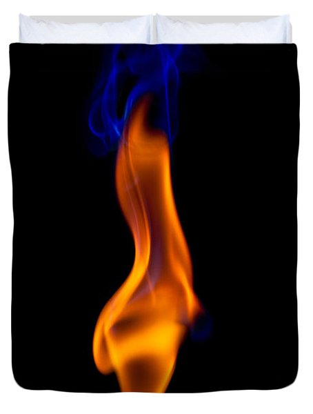 Duvet Cover featuring the photograph Fire Lady by Gert Lavsen