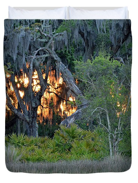 Fire Light Jekyll Island Duvet Cover