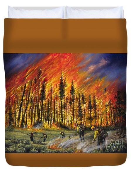 Fire Line 1 Duvet Cover