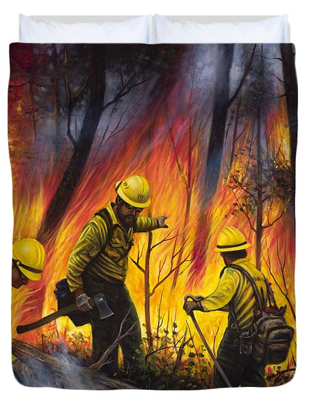 Fire Line 2 Duvet Cover