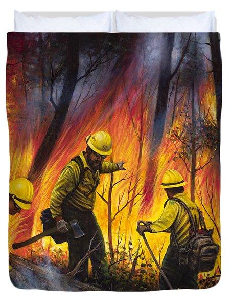 Fire Line 2 Duvet Cover