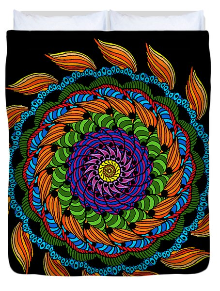 Fire Mandala Duvet Cover