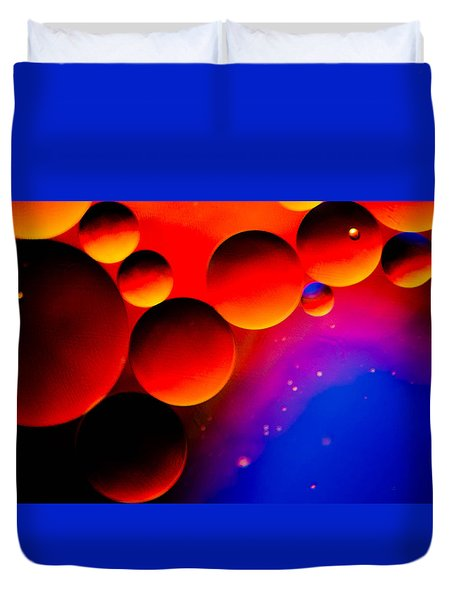 Fire Moons Duvet Cover