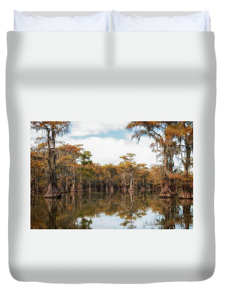 Fire Moss  Duvet Cover