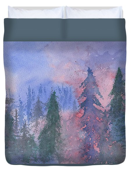 Fire On The Mountain Duvet Cover