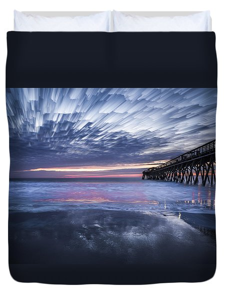 Fire On The Water Duvet Cover
