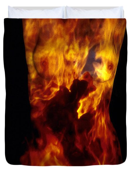 Fire One  Duvet Cover by Arla Patch