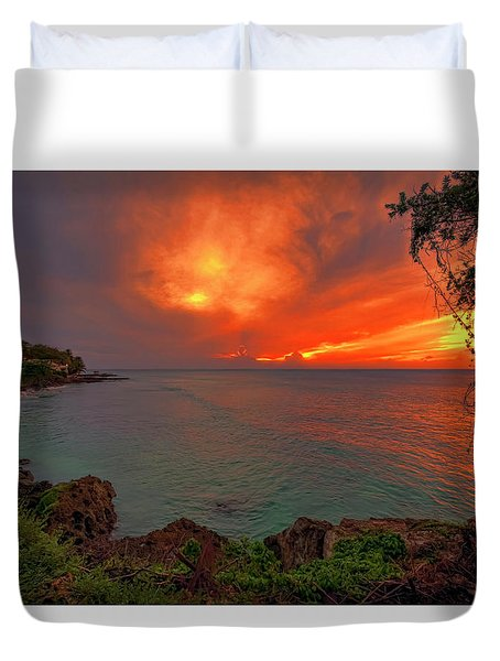 Fire Sky Duvet Cover