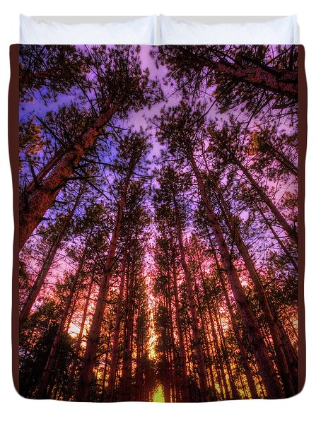 Fire Sky - Sunset At Retzer Nature Center - Waukesha Wisconsin Duvet Cover by Jennifer Rondinelli Reilly - Fine Art Photography