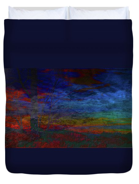 Fire-smoke-embers Duvet Cover