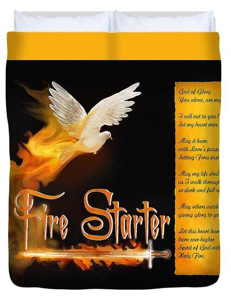 Fire Starter Poem Duvet Cover